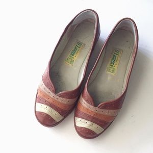 Shoes - Vintage handmade Mexican flats